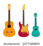 Guitar Set. Acoustic Guitar ...