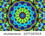 creative abstract background.... | Shutterstock . vector #1077187019