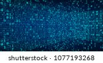 abstract technology perspective ... | Shutterstock .eps vector #1077193268