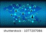 social media network concept... | Shutterstock .eps vector #1077207086