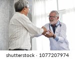 happiness people.  senior male... | Shutterstock . vector #1077207974