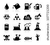 pollution icons | Shutterstock .eps vector #107721200