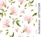 beautiful watercolor pattern... | Shutterstock . vector #1077212189