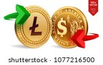litecoin to dollar currency... | Shutterstock .eps vector #1077216500