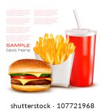 group of fast food products....   Shutterstock .eps vector #107721968
