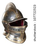 Iron Helmet Of The Medieval...