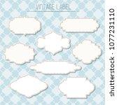 set of vintage label | Shutterstock .eps vector #1077231110