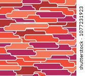 seamless patternw with  warm... | Shutterstock .eps vector #1077231923