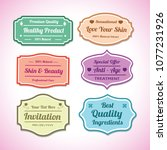 label design for products or... | Shutterstock .eps vector #1077231926