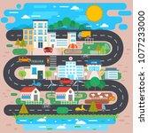 illustration of eco green...   Shutterstock .eps vector #1077233000