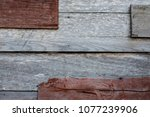 old wooden background patched... | Shutterstock . vector #1077239906