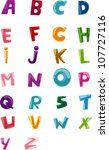 alphabet set vector | Shutterstock .eps vector #107727116