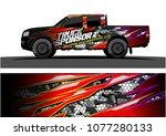pickup truck graphic vector....   Shutterstock .eps vector #1077280133
