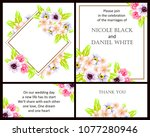 invitation with floral... | Shutterstock .eps vector #1077280946