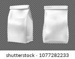 food snack bag on transparent...   Shutterstock .eps vector #1077282233