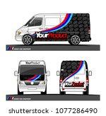 cargo van graphic vector in... | Shutterstock .eps vector #1077286490