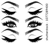 illustration with woman's eyes  ...   Shutterstock .eps vector #1077289400