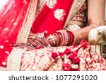 pakistani   indian bridal... | Shutterstock . vector #1077291020