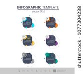 info graphics  design 3d... | Shutterstock .eps vector #1077304238