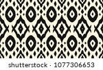 ikat seamless pattern. vector... | Shutterstock .eps vector #1077306653