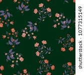 orient seamless floral pattern. ... | Shutterstock .eps vector #1077315149