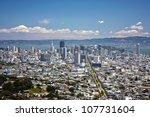 san francisco downtown view...   Shutterstock . vector #107731604