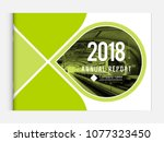 cover design for annual report... | Shutterstock .eps vector #1077323450