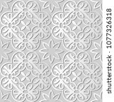 3d white paper art round spiral ... | Shutterstock .eps vector #1077326318