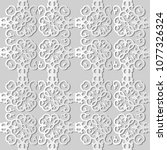3d white paper art spiral... | Shutterstock .eps vector #1077326324
