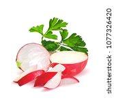fresh  nutritious  tasty red...   Shutterstock .eps vector #1077326420