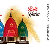 ratha yatra   the return... | Shutterstock .eps vector #1077327656
