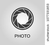 photo icon. photo symbol. flat... | Shutterstock .eps vector #1077331853