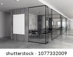 modern coworking office... | Shutterstock . vector #1077332009