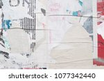 vintage faded weathered street...   Shutterstock . vector #1077342440