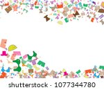 abstract background for summer... | Shutterstock .eps vector #1077344780