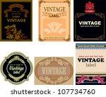 set of vintage labels   Shutterstock .eps vector #107734760