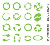 green round recycle vector... | Shutterstock .eps vector #1077350243