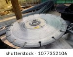 grinding machine wheel in small ... | Shutterstock . vector #1077352106