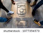 lalin  spain   february 24 ... | Shutterstock . vector #1077356573