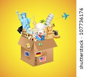 illustration of package full of ... | Shutterstock .eps vector #107736176