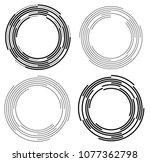 set design elements. curved... | Shutterstock .eps vector #1077362798
