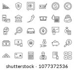 thin line icon set  ... | Shutterstock .eps vector #1077372536