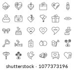 thin line icon set   patched... | Shutterstock .eps vector #1077373196