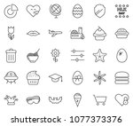 thin line icon set   circle... | Shutterstock .eps vector #1077373376