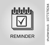 reminder icon. reminder symbol. ... | Shutterstock .eps vector #1077378266