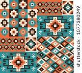 oriental geometric seamless... | Shutterstock .eps vector #1077380249