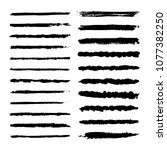 set of pen brush  marker vector ... | Shutterstock .eps vector #1077382250