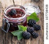 blackberry jam | Shutterstock . vector #107738438