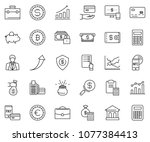 thin line icon set  ... | Shutterstock .eps vector #1077384413