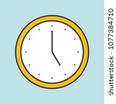 clock filled outline icon | Shutterstock .eps vector #1077384710